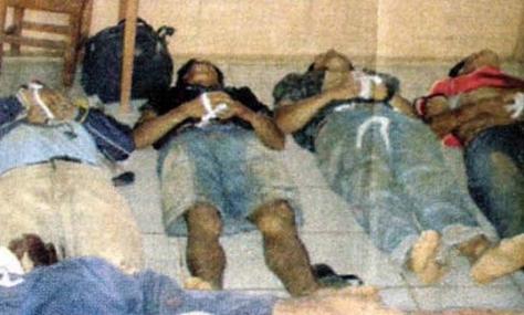 Campesinos asesinados el 11 de septiembre de 2008 por grupos de choque a la orden de la prefectura pandina